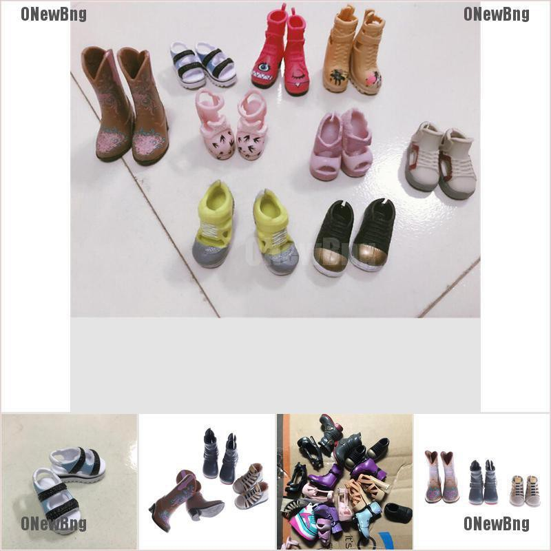 ONewBng✪ 1Pair Fashion High Heels Boots Shoes For Doll Accessories Kids Toys Gift