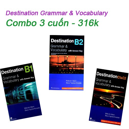 Sách - Destination Grammar & Vocabulary (Combo 3 cuốn B1,B2,C1&C2) - 316k