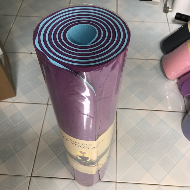 Thảm Tập Yoga 2 Lớp TPE Độ Dày Chuẩn 8mm (KÈM TÚI ĐỰNG), Thảm Tập Gym Chống Trơn Trượt Và Không Thấm Mồ Hôi Cao Cấp.