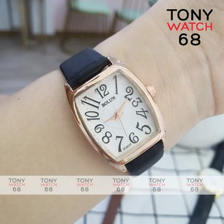 Đồng hồ nữ Bolun bầu dục dây da viền vàng chống nước chính hãng Tony Watch 68 thumbnail