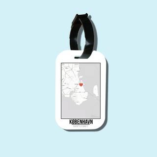Travel tag cho túi xách balo du lịch in hình Love City - Kobenhavn thumbnail