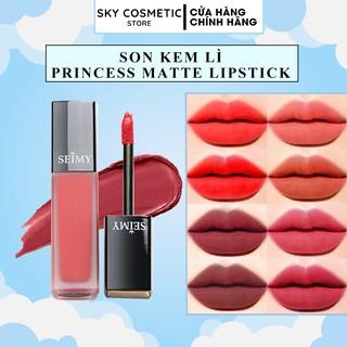 Son kem lì Seimy - Princess Lipstick Matte - Son thiên nhiên an toàn cho bà bầu, kháng nước, nhiều dưỡng,lì môi, bám màu thumbnail