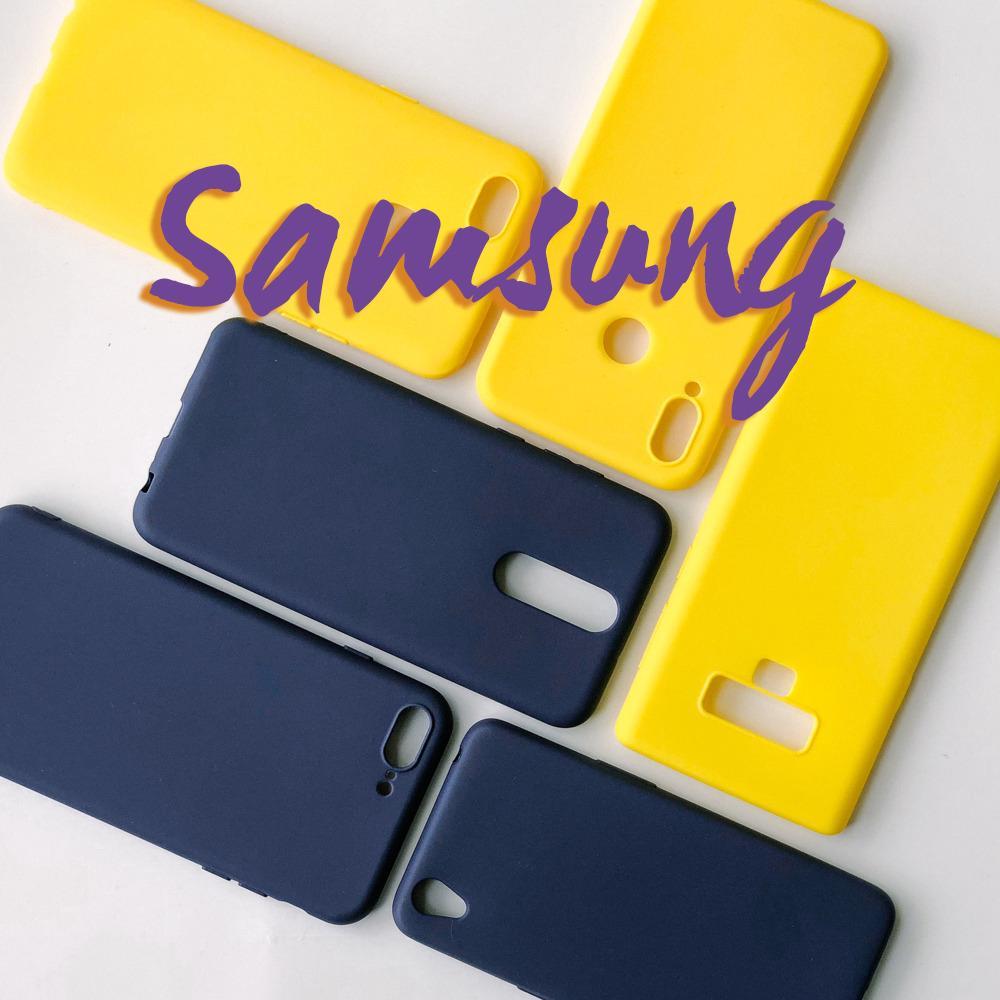 👑 Samsung Galaxy J5 J7 2016 J5 J7 Pro J5 J7 Prime Case Yellow Plain Soft Casing