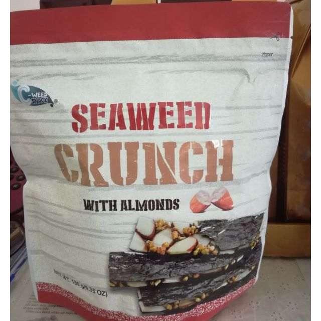 Rong biển giòn với hạt hạnh nhân Seaweed Crunch 180g - 3522730 , 894406993 , 322_894406993 , 245000 , Rong-bien-gion-voi-hat-hanh-nhan-Seaweed-Crunch-180g-322_894406993 , shopee.vn , Rong biển giòn với hạt hạnh nhân Seaweed Crunch 180g