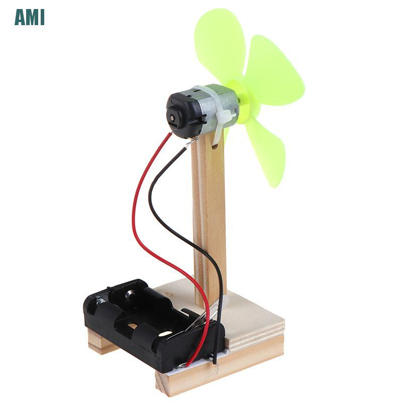 [D] DIY Electric Fan Experiment Model Physics Science Elementary Education Toys (ghg)