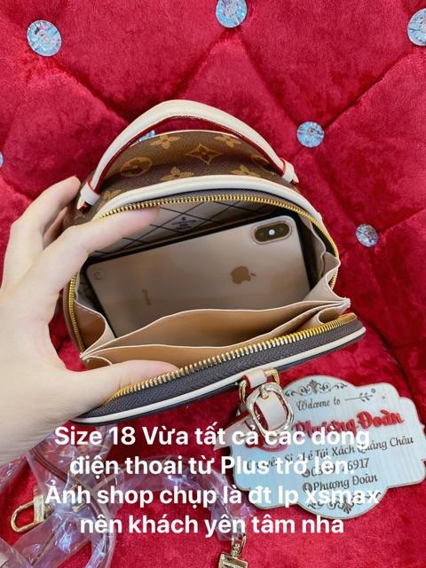 Túi Trống Tròn quai xách size 18 đựng Điện thoại từ Plus trở lên ảnh thật kèm video tự quay