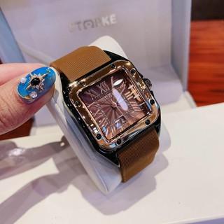 Đồng hồ guou nữ mặt vuông dây silicon, bảo hành 12 tháng, tặng box thumbnail