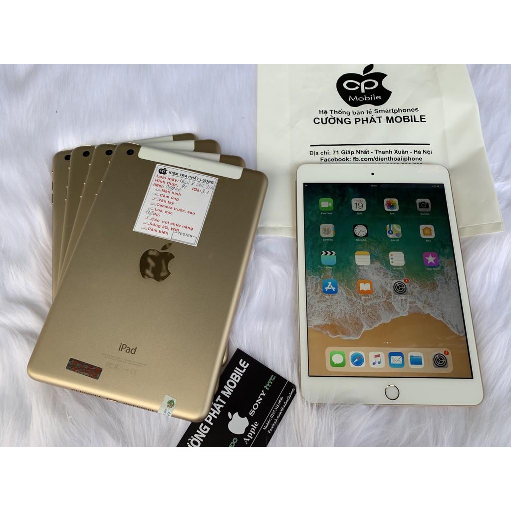 Máy Tính Bảng iPad Mini 3 ( 4G+WIFI ) Zin Đẹp 99% Chính Hãng