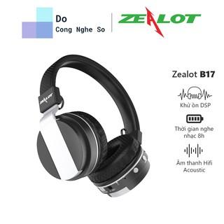 Tai nghe Headphone Bluetooth Zealot B17 thể thao với Mic, FM radio, TF - Hàng chính hãng