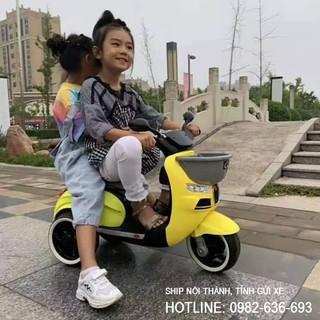 Xe máy điện 3 bánh cho bé CHIWA có giỏ 3 màu: Xanh-Đỏ-Vàng