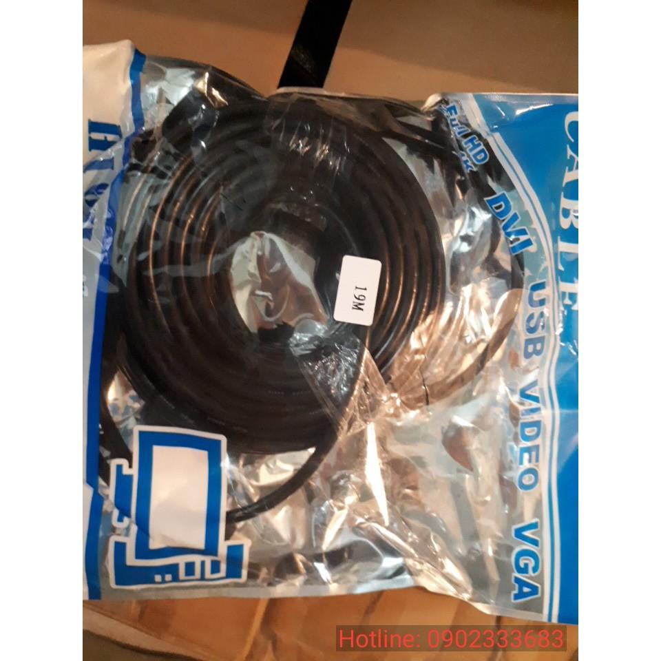 Cáp hdmi 19m full hd | dây hdmi 19m tròn đen Giá chỉ 168.000₫