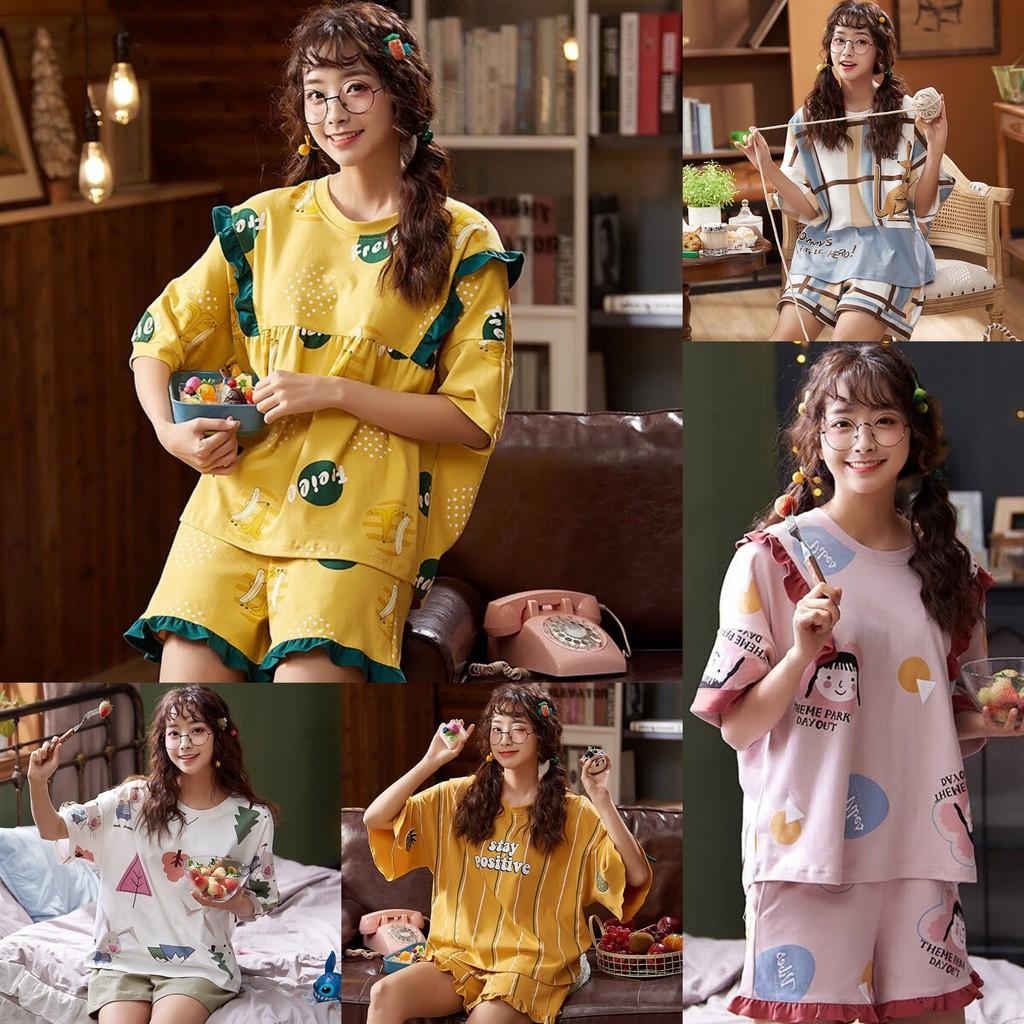 Đồ bộ ngủ Cotton Korea Style Hè 2020
