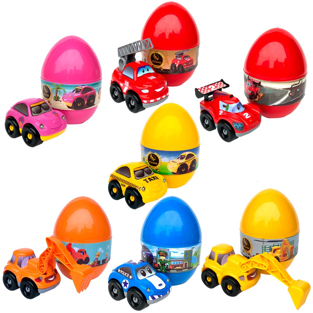 Đồ Chơi Bóc Trứng Lắp Ghép Ô TÔ VIJAGO Cho Bé