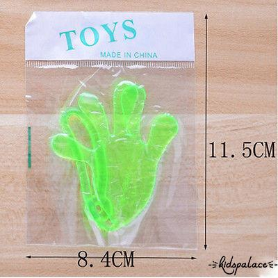 H-C★Hot Selling Baby Girls Boys Mini Sticky Hands Elastic Vending Birthday Party Favors Toy Gift