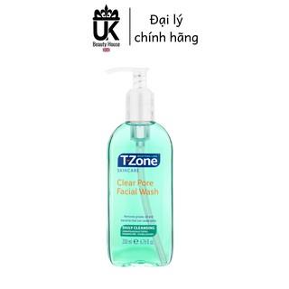 Gel rửa mặt tràm trà cho da dầu mụn T-Zone Clear Pore Facial Wash 200ml thumbnail