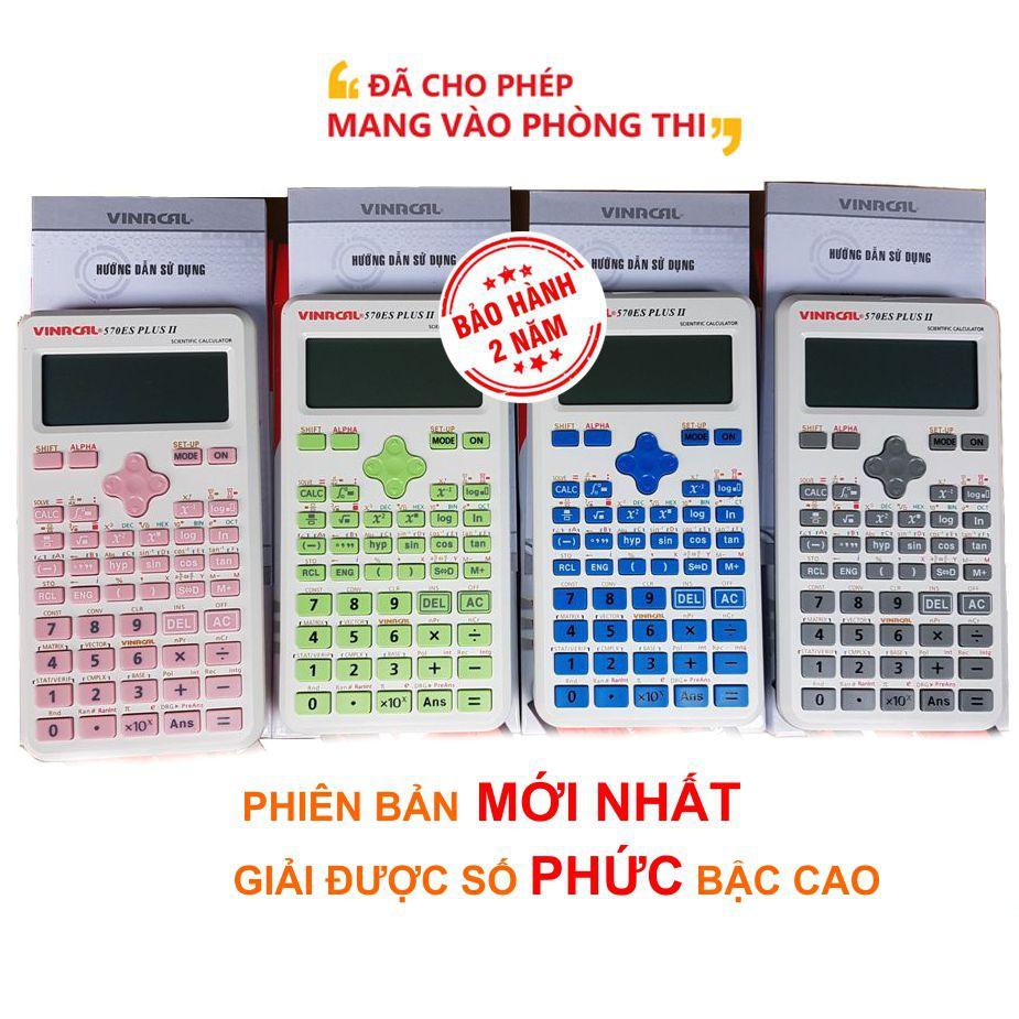 Máy tính VINACAL 570 ES PLUS II-CHÍNH HÃNG BH 2 NĂM-4 màu