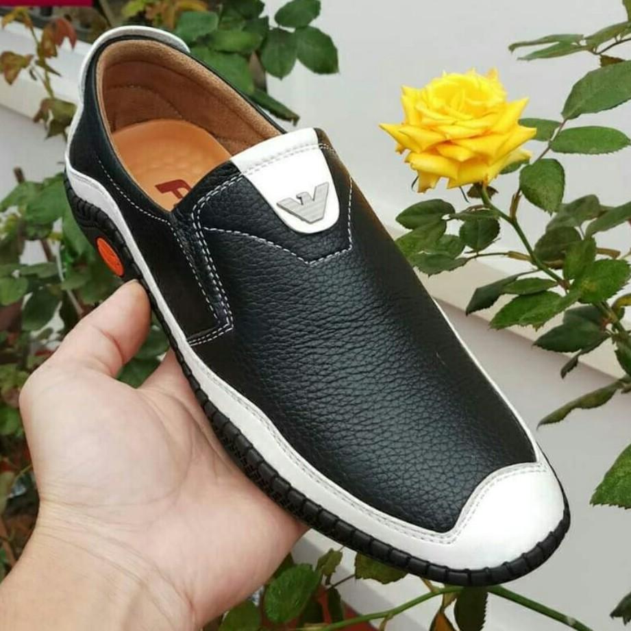 Giày lười nam - giày lười da bò nam bảo hành 12 tháng