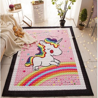 THẢM CHƠI CHẦN BÔNG CAO CẤP CHO BÉ – Pink Unicorn