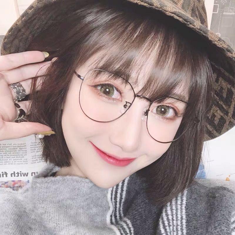 Mắt Kính Gọng Lớn Chống Tia Bức Xạ Phong Cách Hàn Quốc Thời Trang Cho Nữ