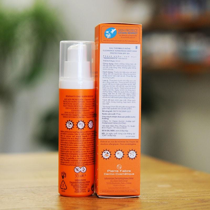 Kem chống nắng cho da nhờn mụn Cleanance Protection 50+ - Avene 50ml