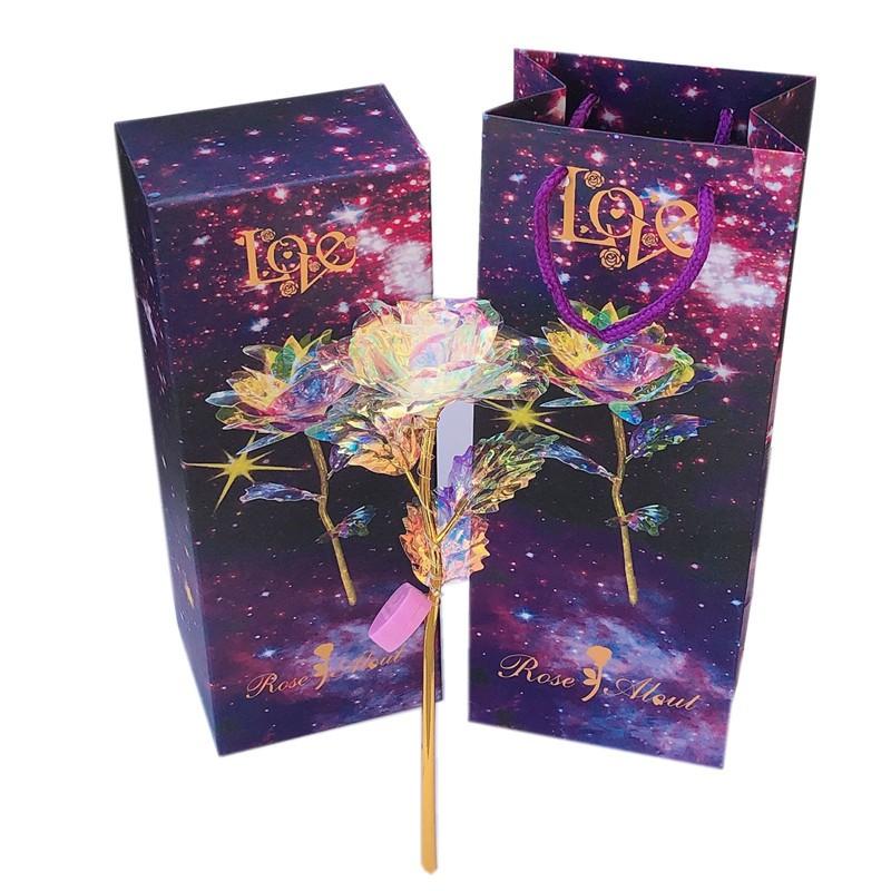 Hoa hồng pha lê phát sáng làm Qùa tặng sinh nhật, quà tặng giáng sinh ý nghĩa