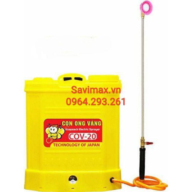Bình xịt điện Con Ong Vàng COV 20, Máy phun thuốc diệt sâu bọ côn trùng