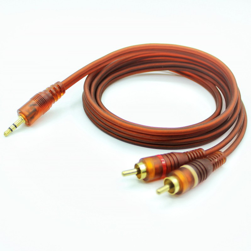 【1.5m/3m/5m/10m】3.5mm to 2 RCA audio cable, for phone, headphone, speaker black 3.5mm Jack stereo to 2 RCA Male Aux Audio Cable Wire