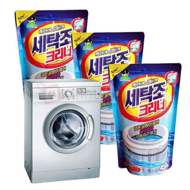 Bột tẩy máy giặt Hàn quốc dùng cho tất cả các loại máy giặt