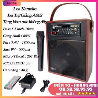 Loa Karaoke Loa trợ giảng Bluetooth Zansong A062 +A061 Mini  mẫu mới (tặng micro không dây) BH 3 tháng