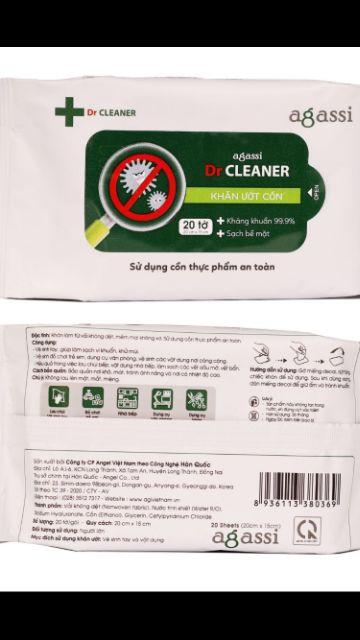 (Cùng cty khăn ướt agi) khăn ướt có cồn agassi 20/60 tờ