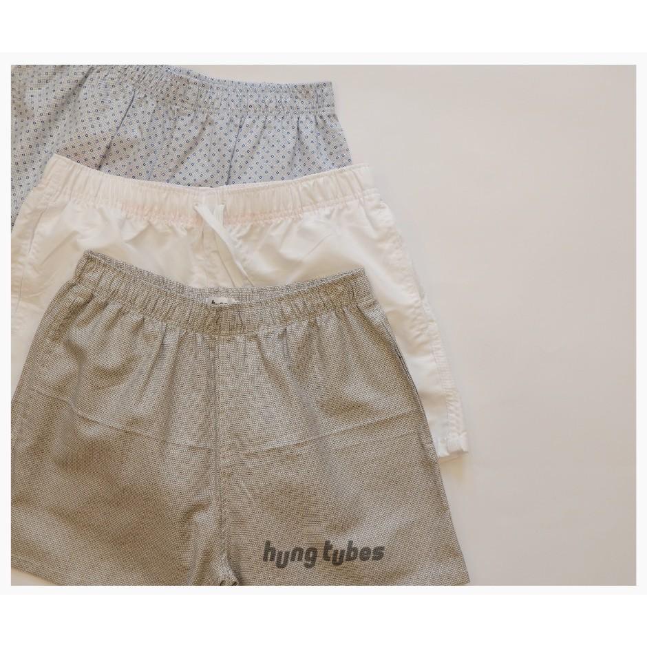 Quần tà lỏn, quần ngắn đủ màu sắc chất liệu cotton mix kate lưng thun Hàng Gia Công Hung Tubes