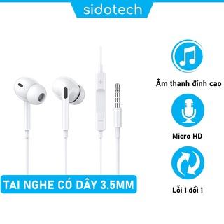 Tai nghe nhét tai có dây SIDOTECH P5 siêu bass cách âm có mic chống ồn chuyên nghe nhạc chơi gaming esport jack 3.5mm thumbnail