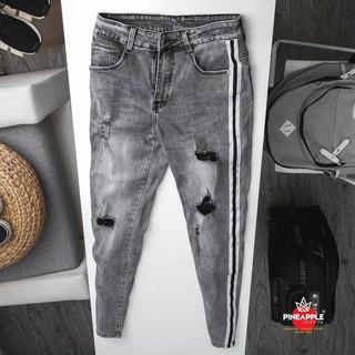 quần jean nam sám viền rách có size đại nha khách