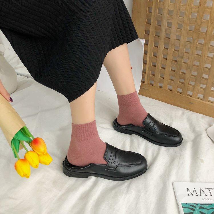 Giày Da Bít Mũi Phong Cách Cổ Điển Thanh Lịch Dành Cho Nữ