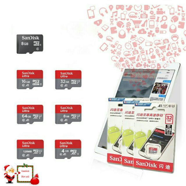 100% ORIGINAL SANDISK MEMORY CARD 8/16/32/64/128/256GB (2 YEARS WARRANTY)