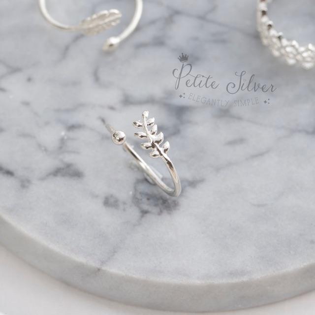 [FREESHIP]Nhẫn bạc lá S925 N25 - Petite.Silver