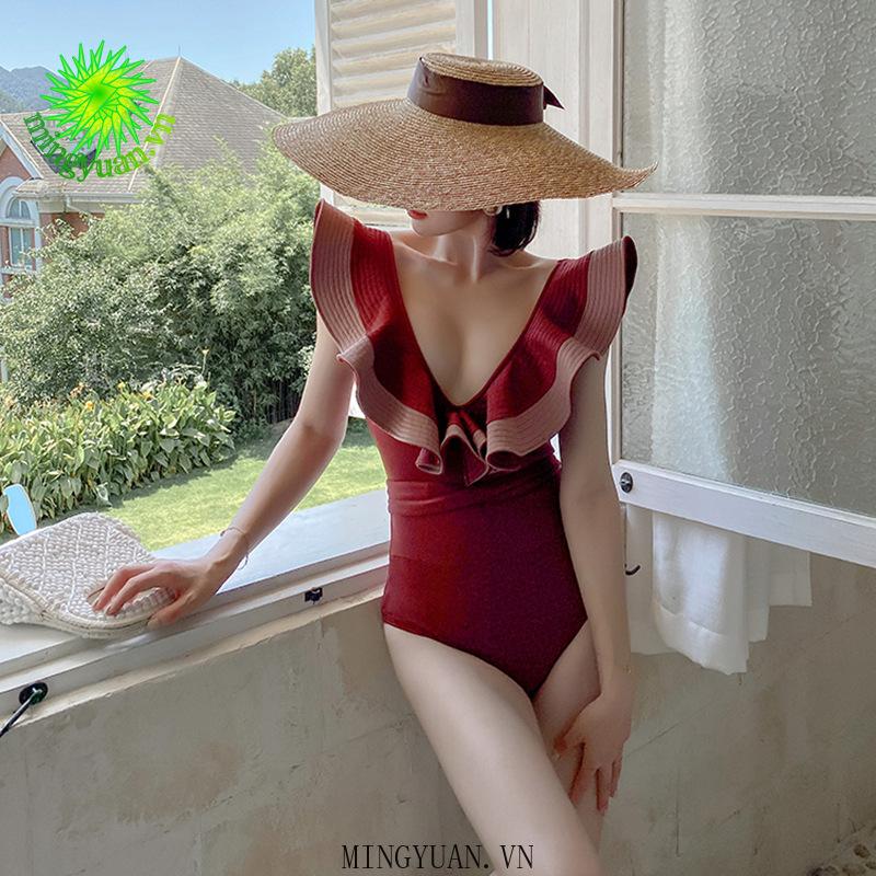 Mặc gì đẹp: Đằm thắm với Áo tắm một mảnh cổ xẻ chữ V eo cao ôm dáng phong cách gợi cảm