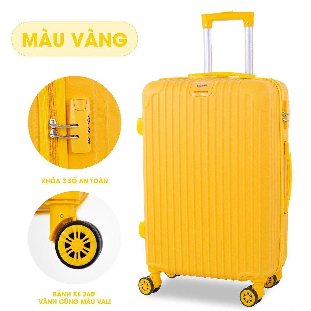vali du lịch BAMOZO 8801 vali kéo nhựa được bảo hành 5 năm
