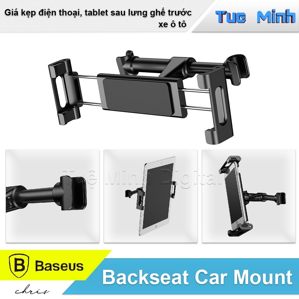 Giá kẹp điện thoại, tablet sau lưng ghế trước xe ô tô - Baseus Backseat Car Mount