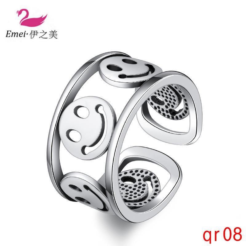 ง่ายสร้างสรรค์ยิ้มไทยแหวนเงินแหวนวินเทจที่จะส่งแฟนของเขา
