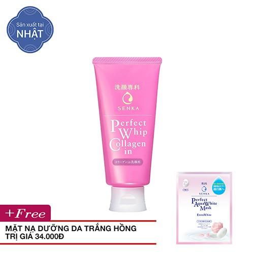 [MUA 1 TẶNG 1] Sữa Rửa Mặt Senka Perfect Whip Collagen In 120g - Tặng mặt nạ dưỡng da trắng hồng - T - 3071339 , 1346150004 , 322_1346150004 , 115000 , MUA-1-TANG-1-Sua-Rua-Mat-Senka-Perfect-Whip-Collagen-In-120g-Tang-mat-na-duong-da-trang-hong-T-322_1346150004 , shopee.vn , [MUA 1 TẶNG 1] Sữa Rửa Mặt Senka Perfect Whip Collagen In 120g - Tặng mặt nạ
