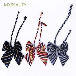 MXBEAUTY Tie Uniform Girl Butterfly Bow Tie Women Suit Knot Student Cravat Cosplay Striped/Multicolor