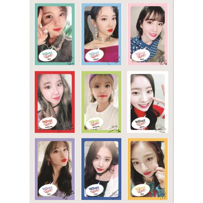 Lomo Card TWICE WHAT IS LOVE Concept Photo Full version Có chữ ký