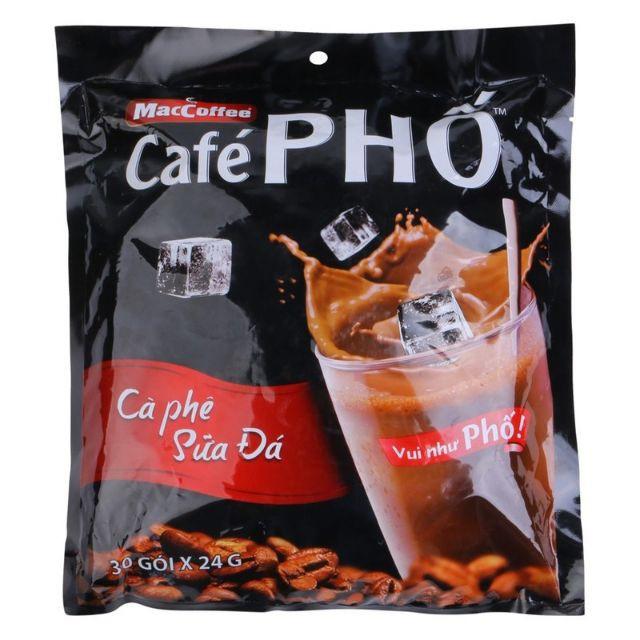 Cà phê Phố sữa đá bịch(30gói x24g)