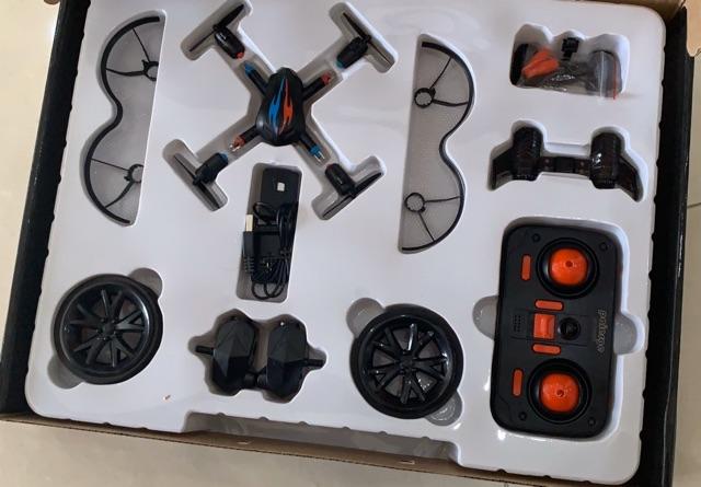 Máy bay & xe điều khiển 2 in1 có đèn