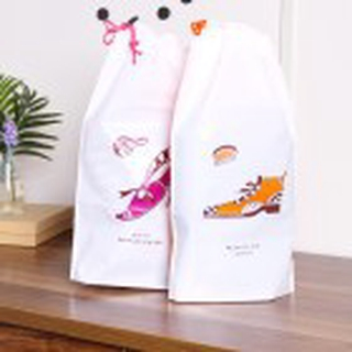 【Spot】Shoes Drawstring Top Dustproof Bag Easy to Travel Shoes Buggy Bag(2-Pack)