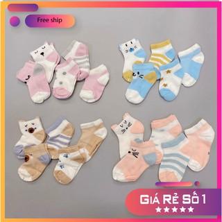 Sét 5 đôi tất lưới cổ thấp Kid's Socks cho bé yêu