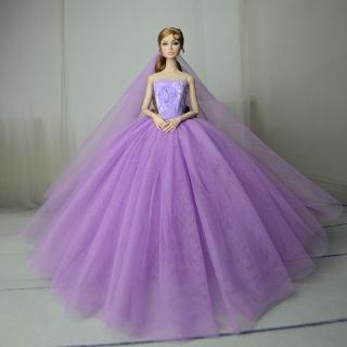 1/6 Colorful Handmade Doll Clothes Marry Dolls Accessories BJD Wedding Dress SD Toy For Children Fashion Design