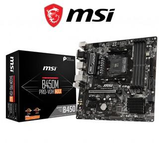 Bo mạch chủ Mainboard MSI B450M PRO VDH MAX AMD B450, Socket AM4, m-ATX, 4 khe RAM DDR4 thumbnail