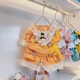 [BST Hè 2021] Bộ Ngủ Pijama Kate Cộc Tay Dành Cho Bé Từ 10-28Kg - Babi mama thumbnail